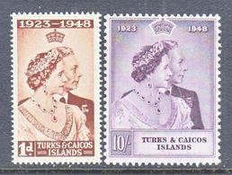 TURKS & CAICOS  92-3  **   SILVER  WEDDING - Turks And Caicos