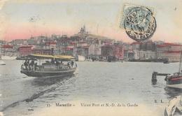 Marseille - Vieux Port Et N-D. De La Garde, Ferry Boat - Carte E.L. Colorisée N° 35 - Vecchio Porto (Vieux-Port), Saint Victor, Le Panier