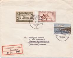 ALTER  Einschreibe- Brief  / Türkei - Gelaufen 1950 - 1921-... Republic