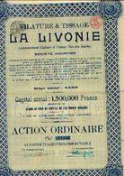 (GAND) « Filature & Tissage LA LIVONIE SA» – Capital : 1.500.000 Fr - Action Ordinaire - Textile