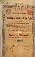 (BRUXELLES) « Compagnie Générale Des Tramways D'Athènes Et Du Pirée SA» – Action De Dividende - Chemin De Fer & Tramway