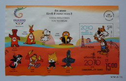 India, MS 'Shera Welcomes You To Delhi' Commonwealth Games XIX 2010, Used. - Hojas Bloque