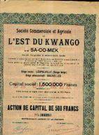 (LEOPOLDVILLE) « Soc. Commerciale Et Agricole De L'Est Du KWANGO Dite SA-CO-MEK SA» – Capital : 1.500.000 Fr ----> - Afrika