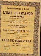 (LEOPOLDVILLE) « Soc. Commerciale Et Agricole De L'Est Du KWANGO Dite SA-CO-MEK SA» – Capital : 1.500.000 Fr - ----> - Afrika
