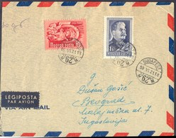 HUNGARY - MAGYARORS. - STALIN To Jugoslavia  AIRMAIL - INFORBILO PROVOCATION - 1950 - Sudan (1954-...)