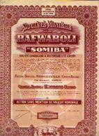(STANLEYVILLE) « Soc. Minière De BAFWABOLI - SOMIBA» – Capital : 17.200.000 Fr - – Action Sans Mention De Valeur - Afrika