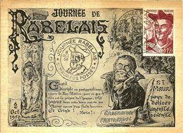 Journée RABELAIS - ST MAUR DES FOSSEES - 1950 - - Cartes-Maximum