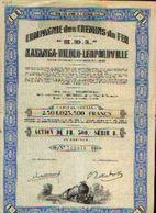 (ELISABETHVILLE) « Cie Des Chemins De Fer Katanga-Dilolo-Léopoldville K.D.L.» – Capital : 2.304.023.500 Fr – Action ---> - Afrique