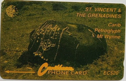 7CSVB  Carib Petroglyph EC$20 - St. Vincent & The Grenadines