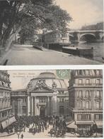 18 / 4 / 247  -  Lot  De  2  CPA  DE  PARIS  -  LA  BOURSE  ANIMÉE  ET BORD  DE  SEINE - France