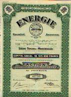 (MARCINELLE) « Energie SA» - Capital : 18.125.000 Fr – Action Au Porteur - Electricité & Gaz