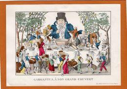 GARGANTUA A SON GRAND COUVERT. - Edition Médicale Du Laboratoire Du Docteur Thépénier - Buvard ? - Werbung