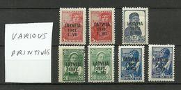Lettland Latvia 1941 German Occupation Various Printings MNH/MH - Occupation 1938-45
