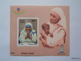 INDIA Year 1997,  Mother Teresa, Speed Post Indipex '97, Mother Teresa 1910-1997 MS Used And MNH, SG MS1756 - Madre Teresa