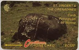 11CSVB Carib Petroglyph EC$20 - St. Vincent & The Grenadines