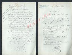 4 LETTRES DE 1897 ECT ECRITE ANTOINE GAILLARD DE VIRY HAUTE SAVOIE GAILLARD : - Manuscrits