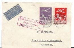 DK-CX45, / Dänemark - Flugbrief 1930 Nach Berlin Mit Mi.Nr. 144-45 - 1864-04 (Christian IX)