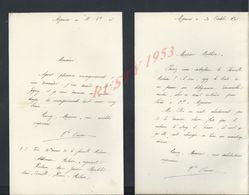 5 LETTRES DE 1899 Ect ECRITE DE MIGENNES : - Manuscripts