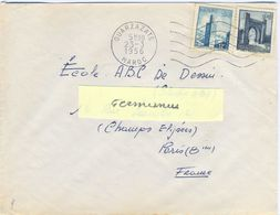 MAROC OUARZAZATE OM SECAP FD 5.L.O. W Du 23-3-1956 - Marokko (1891-1956)