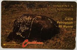 3CSVB Carib Petroglyph EC$20 - St. Vincent & The Grenadines