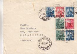 Italie - Lettre De 1949 - Oblit Abbiategrasso - Exp Vers Romanshorn - 6. 1946-.. Repubblica