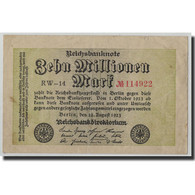 Billet, Allemagne, 10 Millionen Mark, 1923, 1923-08-22, KM:106a, TB - [ 3] 1918-1933 : Weimar Republic