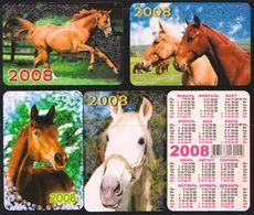 Russia 2008 5 Pocket Calendars Horses Horse Chevaux Cheval Caballos Cavalli Paarden Pferd (Sv.) - Calendars