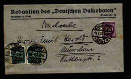 A5362) DR Infla Drucksache-Streifband Bis 100g Frankfurt 24.7.23 - Deutschland
