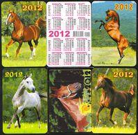 Russia 2012 5 Pocket Calendars Horses Horse Chevaux Cheval Caballos Cavalli Paarden Pferd (Sv.) - Calendars