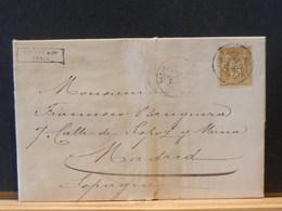 75/719  LETTRE POUR MADRID - 1876-1898 Sage (Type II)