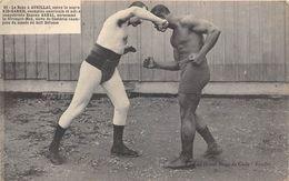 BOXE-A AURILLAC ENTRE LE NEGRE KID-HARRIS CHAMPION AMERICAIN ET EUGENE ARNAL SURNOMME LE STRENGHT-MAN - Boxing