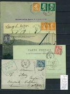 Lettres  Cachet  Convoyeur Chambéry à Grenoble - à Dijon Et Retour - 5 Piéces - Marcophilie (Lettres)