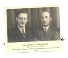 Souvenir De Paul GARCET Et Fernand TONNET, Fondateurs De La J.O.C. Morts Au Camp De Dachau - Guerre 40/45 - Décès