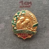 Badge (Pin) ZN006745 - Soviet Union (SSSR / CCCP / USSR) Russia Naturalist - Pin's