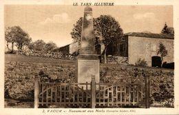VAOUR MONUMENT AUX MORTS - Vaour