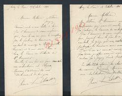 4 LETTRES DE 1906 ECRITE DE ANCY LE FRANC : - Manuscripts