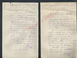 2 LETTRES DE 1897 ECRITE DE MONTREUIL : - Manuscripts
