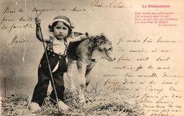 CPA ILLUSTRATEUR BERGERET - LE PHENOMENE - ENFANT LOUP - Bergeret