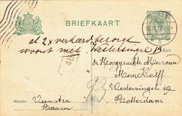 Briefkaart 1891 Baarn - Rotterdam 2x Verkeerd Bezorgd - Interi Postali