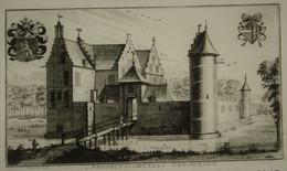 Itegem - Prospectus Castelli Ter - Borcht - 1757 - Estampes & Gravures