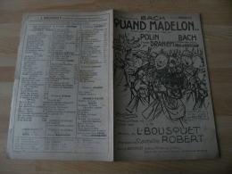 Ancienne Partition Illustration Pousthomis Militaire Quand Madelon - Scores & Partitions
