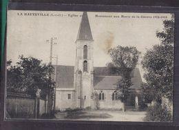 CPA 78 - LA HAUTEVILLE - Eglise Et Monument Aux Morts De La Guerre 1914-1918 - TB PLAN CENTRE VILLAGE - Frankreich