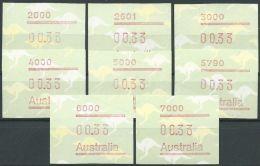 AUSTRALIEN 1985 Mi-Nr. ATM 4.1 - 4.8 ** MNH - Vignette Di Affrancatura (ATM/Frama)