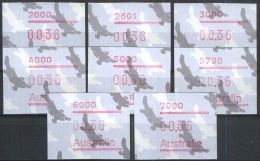 AUSTRALIEN 1986 Mi-Nr. ATM 6. - 6.8 ** MNH - Vignette Di Affrancatura (ATM/Frama)