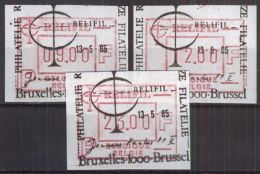 BELGIEN 1989 ATM Mi-Nr. ATM 4 Satz EST O Used - Viñetas De Franqueo