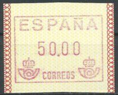 SPANIEN 1989 Mi-Nr. ATM 1 ** MNH - 1931-Heute: 2. Rep. - ... Juan Carlos I