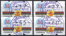 SPANIEN 1989 Mi-Nr. ATM 3.1 S5 O Used - 1931-Heute: 2. Rep. - ... Juan Carlos I