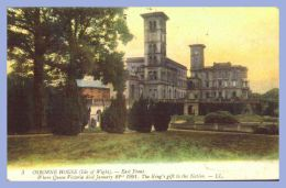 CPA Colour - Isle Of Wight (UK) - 3. Osborne House - East Front .- LL - Angleterre
