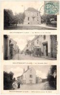 95 BOUFFEMONT - La Mairie Et Les écoles - La Grande Rue - Bifurcation Pour La Gare - Bouffémont