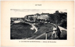 81 CASTELNAU-de-MONTMIRAIL - Avenue De Montauban - Castelnau De Montmirail